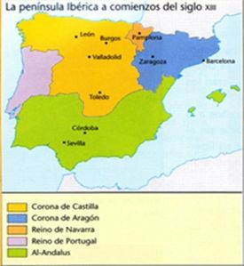 LA PENÍNSULA IBÉRICA  COMIENZOS  DEL SIGLO XIII
