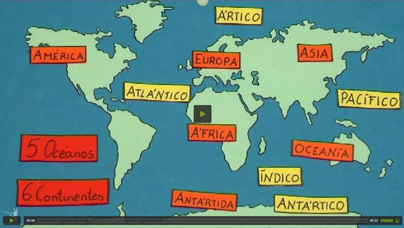 Mapa Para Jugar Dónde Está Continentes Y Océanos: CÓMO SON LOS CONTINENTES Y LOS OCÉANOS