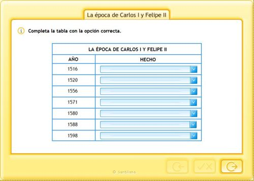 ACTIVIDAD. CARLOS I Y FELIPE II