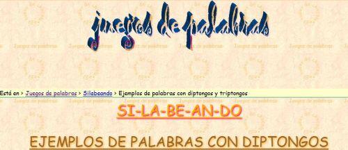 EJEMPLOS DE PALABRAS CON DIPTONGOS Y TRIPTONGOS
