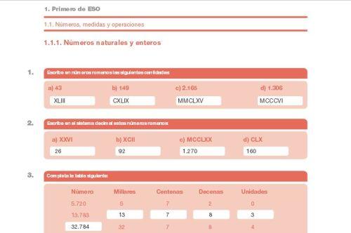 EJERCICIOS DE REPASO. MATEMÁTICAS DE 1º A 3º DE LA ESO. SOLUCIONES.