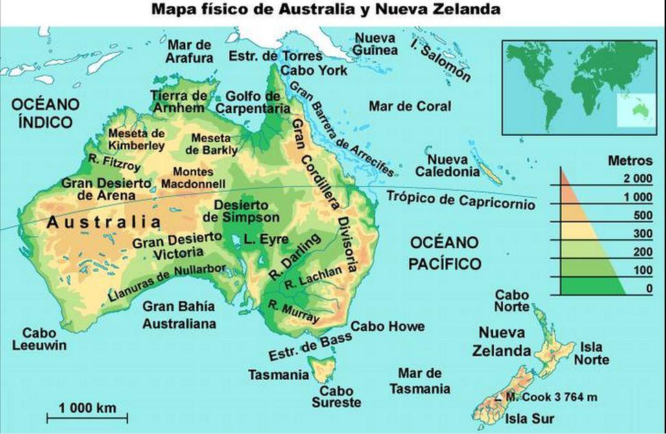 Mapas Oceania Jugando Y Aprendiendo