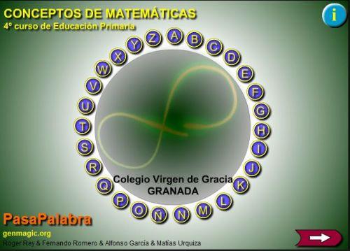 PASAPALABRA MATEMÁTICAS 4º