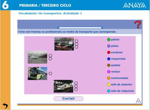 VOCABULARIO. OS TRANSPORTES.