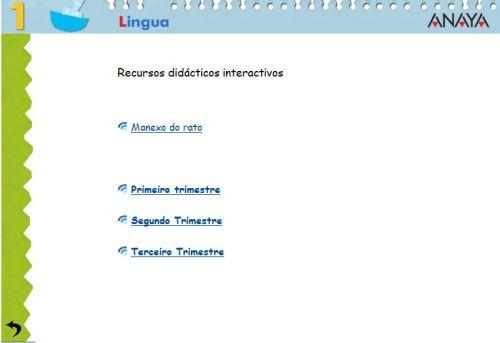 RECURSOS INTERACTIVOS DE PRIMARIA. LINGUA 1º
