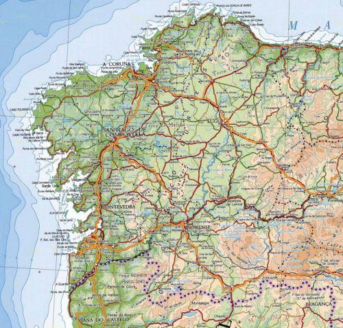 Mapa-fisico-de-Galicia