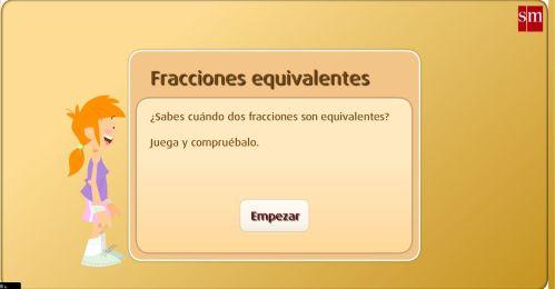 JUEGOS. FRACCIONES EQUIVALENTES4