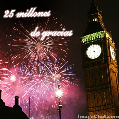 25 millones de gracias